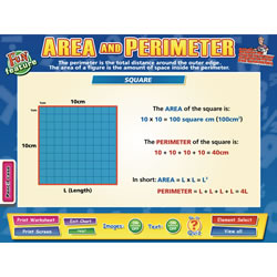 Area and Perimeter Interactive Whiteboard Chart