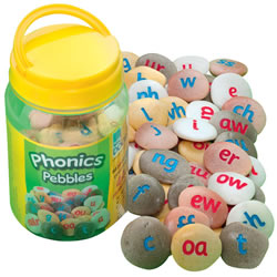 Phonics Pebbles for Letter Recognition and Word-Building