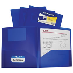 Poly Portfolio - Blue (Set of 25)