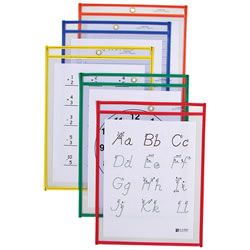 Reusable Dry Erase Pockets - Set of 5