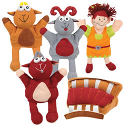 Billy Goat Puppets and Story Props