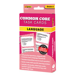 Common Core Language Task Cards - Grade 6