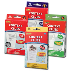 Context Clues Reading Comprehension Practice Cards