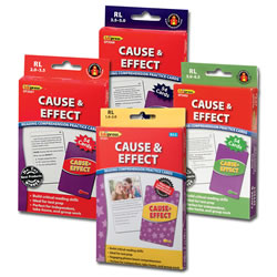 Cause & Effect Reading Comprehension Practice Cards