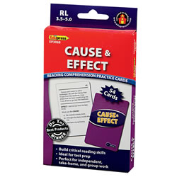 Cause & Effect Reading Comprehension Practice Cards - Blue Level (RL 3.5-5.0)
