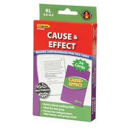Cause & Effect Reading Comprehension Practice Cards - Green Level (RL 5.0-6.5)
