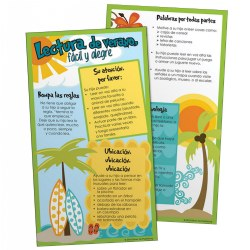 10 Minute Talks: Summer Reading Parent Brochure - Spanish (Set of 25)