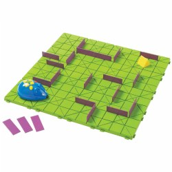 "5 years & up. The hunt is on! Customize your maze, then program the mouse to find the cheese. The inventive possibilities are endless. It's the perfect introduction to the concepts of coding, early engineering, step programming, and critical thinking. This deluxe science set includes 16 pieces to create a 20"" x 20"" maze board, 25 wall tiles to create paths that are straightforward, winding, and everything between, and sequence cards to plot your way to the cheese while tracking every step! Mouse measures approximately 4""H x 3W"". Additional mouse available separately (item #53885)."