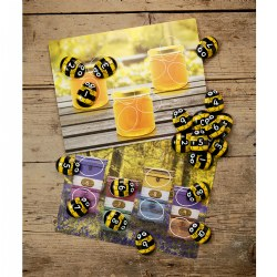 3 years & up. This set of busy bees will help children to move beyond counting to number recognition, odds and evens, sequencing and more. Explore and strengthen numeracy skills with 2 sets of 1-10 honey bee stones. Use the 16 durable plastic cards indoors or out!