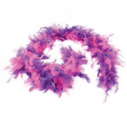 Purple and Fuchsia Feather Boa