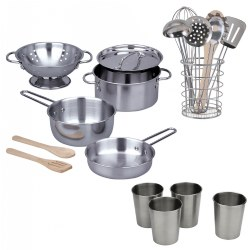 Stainless Steel Outdoor Cooking Playset