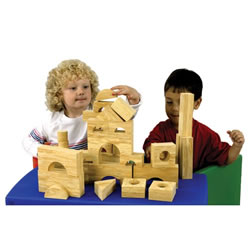 Foam Wooden Look Blocks