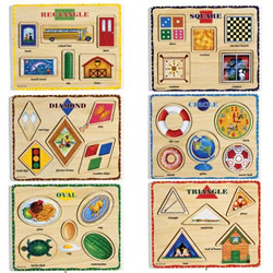 Shape Puzzles - Set of 6