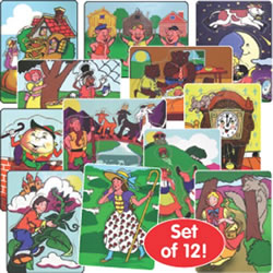 Fairy Tales And Nursery Rhyme Puzzles (Set Of 12)