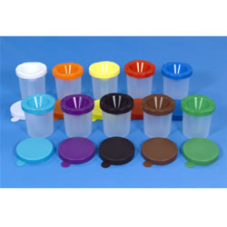 Non Spill Paint Pots - Set Of 10 Without Brushes