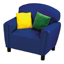 Child-Size Blue Vinyl Chair