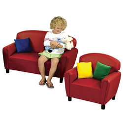 Red Vinyl Seating Group