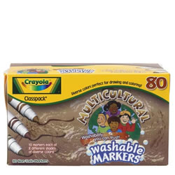 Crayola® Multicultural Markers Classpack - 80 count, 8 colors