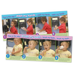 Washing Hands/Brushing Teeth Posters (Set of 2)
