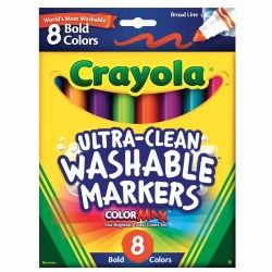 Crayola® 8-Count Bold Washable Markers (Single Box)