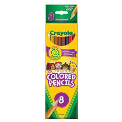 Crayola® 8-Pack Multicultural Pencils - Single Box