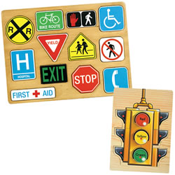 Traffic Sign Puzzle Set