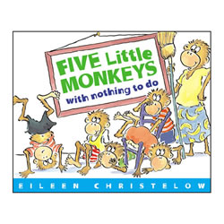 Five Little Monkeys With Nothing To Do (Paperback)