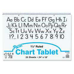 "Chart Tablet 24"" x 16"" - White/Ruled"