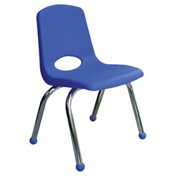 Classic Chrome Chair 10 Inch - Blue