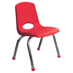Classic Chrome Chair 10 Inch - Red
