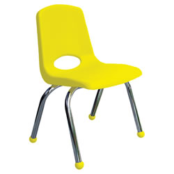 "Classic Chrome Chair 12"" - Yellow"