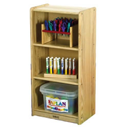 Ash Narrow 3-Shelf Unit