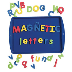 Bilingual Magnetic Foam Alphabet - Lowercase