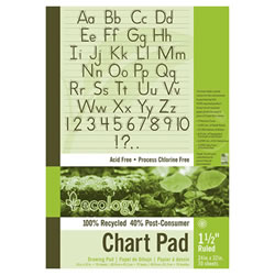 "Eco-Friendly Recycled Chart Pad - 1.5"" Ruled"