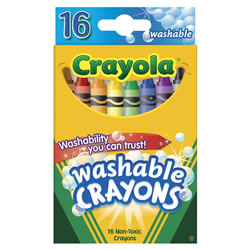 Crayola® Standard 16-Count Washable Crayons