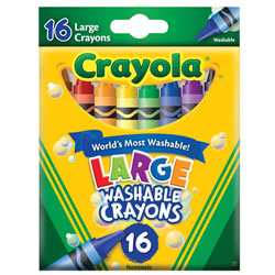 Crayola® 16-Count Large Washable Crayons