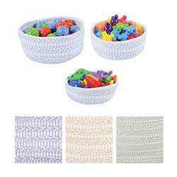Fabric Nesting Baskets - Set of 3