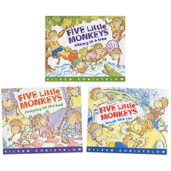 Five Monkeys Book Trio (Paperback)