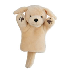 Yellow Labrador Puppy Hand Puppet
