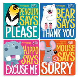 First Manners Board Books - Set of 4