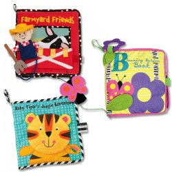 Playful Friends Cloth Books - Set of 3