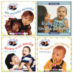 Look at Me Bilingual Board Book Set (Set of 4)