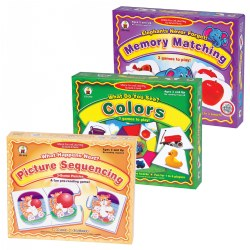 Basic Skills Learning Games - Set of 3