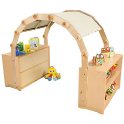 Carolina Toddler Arch and Canopy Set - Natural Canopy