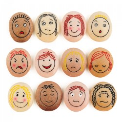 Tactile Emotion Stones For Children To Learn About Feelings - Set of 12