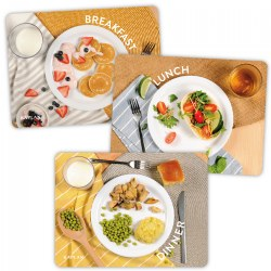 Breakfast, Lunch and Dinner Healthy Meals Puzzles - Set of 3