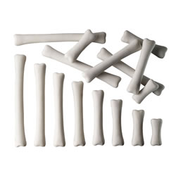 3 years & up. These dinosaur bones are guaranteed to cause a lot of excitement. Durable and weatherproof, you can bury them in the sand, soil or water and will appeal to children's instincts to explore, investigate, sort, compare and measure. Set includes 16 bones in eight different lengths.