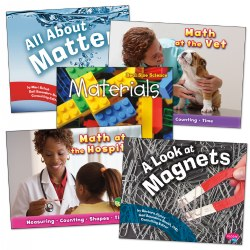 3 years & up. Explore STEM concepts with this set of colorful, clear photos and facts. Set of 5 paperback books.