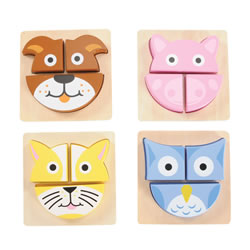 Toddler Animal Puzzle Buddies - Set of 4