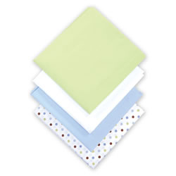 Compact Crib Sheets - Set of 4